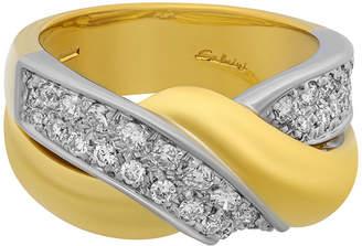 Salvini 18k Two-Tone Braided Diamond Ring, Size 6.25