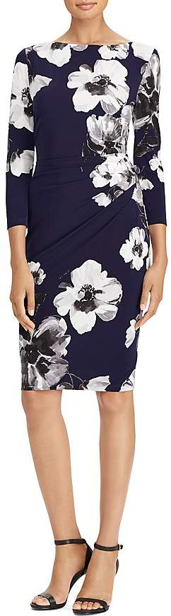 Lauren Ralph Lauren Floral Stretch Jersey Dress