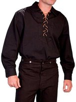 Scully Western Shirt Mens Pull Over Long Sleeve Lacing M RW021