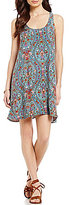 O'Neill Andora Floral-Printed Lace-up Back Shift Dress