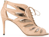 Jimmy Choo Keena 85 sandal booties - women - Leather/Suede - 36