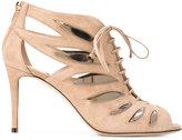 Jimmy Choo Keena 85 sandal booties - women - Suede/Leather - 36