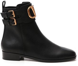 Valentino VLogo Buckle Boots