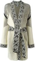 Fausto Puglisi ribbed robe coat - women - Polyester/Viscose - 42