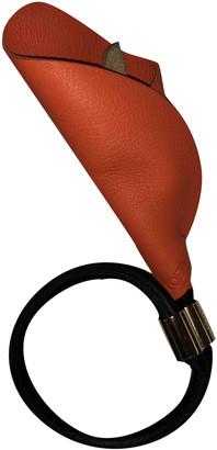 Loewe Orange Leather Bracelets