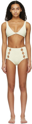 Medina Swimwear Off-White High-Waisted Medusa Bikini