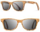 Shwood Men's 'Canby Select' 54Mm Wood Sunglasses - Karrelian Burl/ Walnut/ Grey