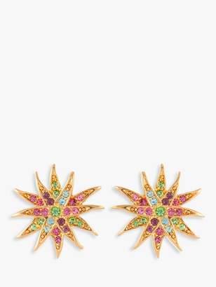 Susan Caplan Vintage 1980s D'Orlan Gold Plated Swarovski Crystal Star Clip-On Earrings, Gold/Multi