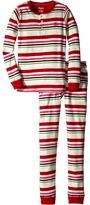 Hatley Holiday Stripe Henley PJ Set (Toddler/Little Kids/Big Kids)
