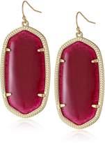 "Kendra Scott Signature 2015"" Gold and Orange Danielle Drop Earrings"
