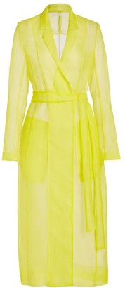 Jason Wu Collection Crinkle Organza Trench Coat