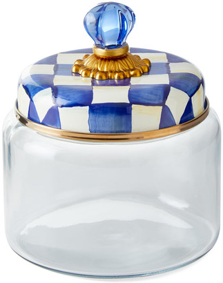 Mackenzie Childs Royal Check Kitchen Canister