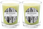 Qualitas Candles Musk Beeswax Candles (Set of 2) (6.5 OZ)