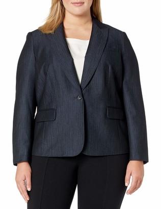Anne Klein Women's Plus Size Denim Twill Jacket