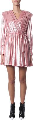 MSGM Draped Striped Mini Dress