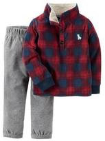 Carter's Boys' 'Red Plaid' 2-Piece Pullover & Pant Set