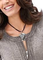 Creation L Cotton Cord Large Pendant Necklace