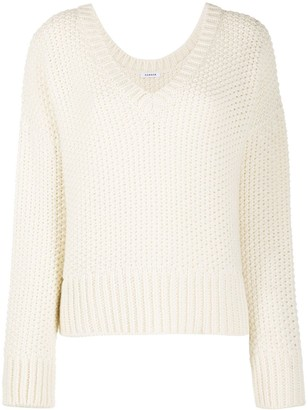 P.A.R.O.S.H. open knit V-neck jumper