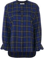 Lareida tartan check blouse