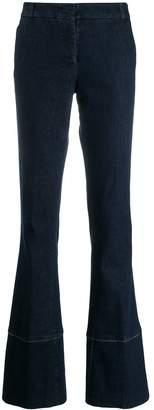 Kiltie flared leg jeans