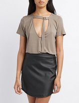 Charlotte Russe D-Ring Plunging Tee
