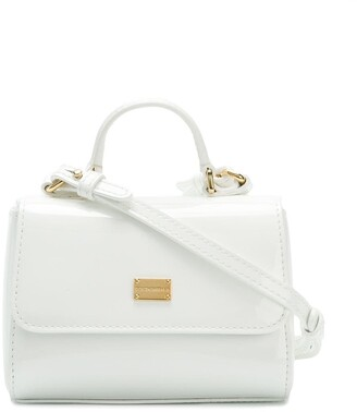 Dolce & Gabbana Kids Patent Leather Top-Handle Bag