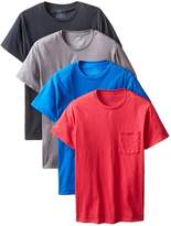 Fruit of the Loom Mens 4Pack Assorted Pocket Crewneck T-Shirts Undershirts 3XL