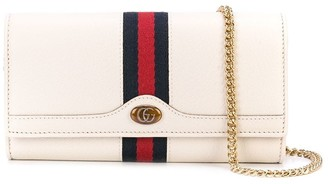 Gucci web stripe clutch