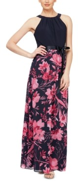 SL Fashions Floral-Print Maxi Dress