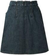 Chanel Pre Owned 2000 Triple Zipper denim skirt