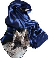 Novels-wear 2017new 100%mulberry Silk Scarf Wrap Luxury Leopard Animal Print