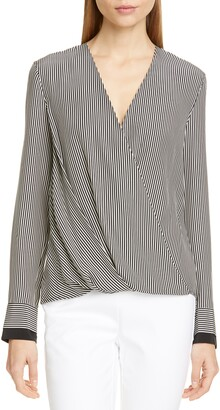 Rag & Bone Victor Stripe Silk Blouse