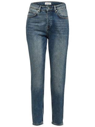 Selected Women's Slffrida Hw Mom Mid Jeans Noos W Straight