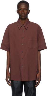 Our Legacy Burgundy Borrowed Short Sleeve Shirt