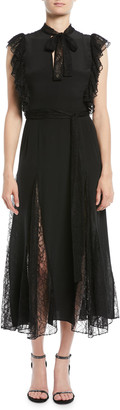 Alexis Sterling Sleeveless Lace Godet Midi Dress