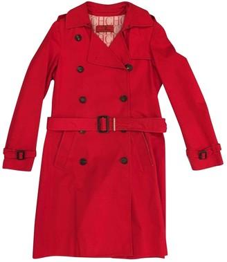 Carolina Herrera Red Cotton Jacket for Women