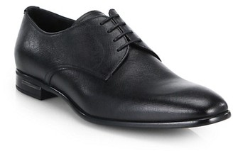 Prada Saffiano Leather Derby Shoes