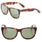 Saint Laurent 54MM Tortoise Round Sunglasses