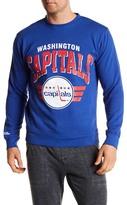 Mitchell & Ness Washington Capitals Front Graphic Print Crew Neck Sweatshirt