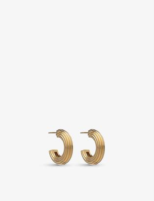 Rachel Jackson Chunky 22ct gold-plated sterling silver hoop earrings