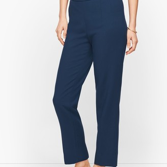 Talbots Luxe Double Weave Slim Ankle Pants