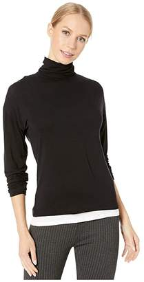 Majestic Filatures Long Sleeve Double Layer Turtleneck Top