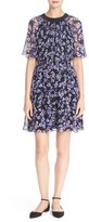 Kate Spade Hydrangea Print Chiffon Dress