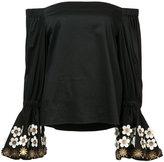 Alexis off shoulder blouse - women - Cotton/Spandex/Elastane - L