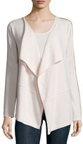 Neiman Marcus Draped Cardigan with Chain Trim