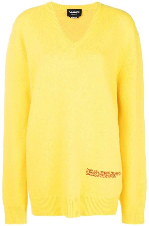Calvin Klein v neck oversized jumper