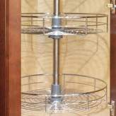 "Dowell 4001 360D 30""H Wall Corner Lazy Susan ,Double Rack"