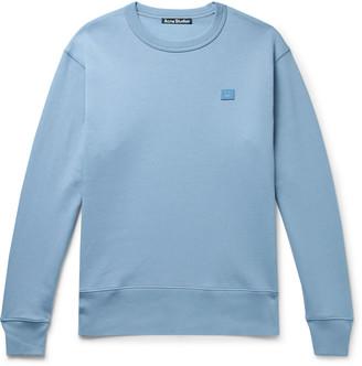 Acne Studios Fairview Logo-Appliqued Melange Fleece-Back Cotton-Jersey Sweatshirt