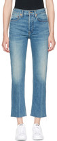 RE/DONE Blue Originals High-Rise Stove Pipe Rigid Jeans