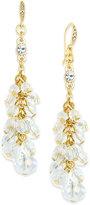 ABS by Allen Schwartz Gold-Tone Beaded Cluster Drop Earrings